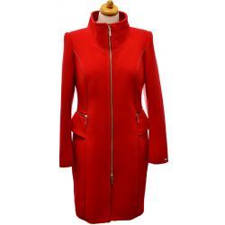 płaszcz damski Dziekański Manuela 32 czerwony