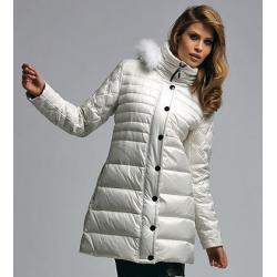 kurtka Vivero DL-1316 biała puchowa