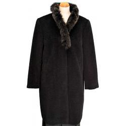 płaszcz damski alpaka Fashion Studio 04 czarny