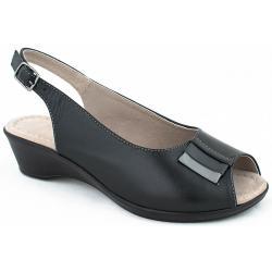 sandały skórzane Pesco 1446 czarne