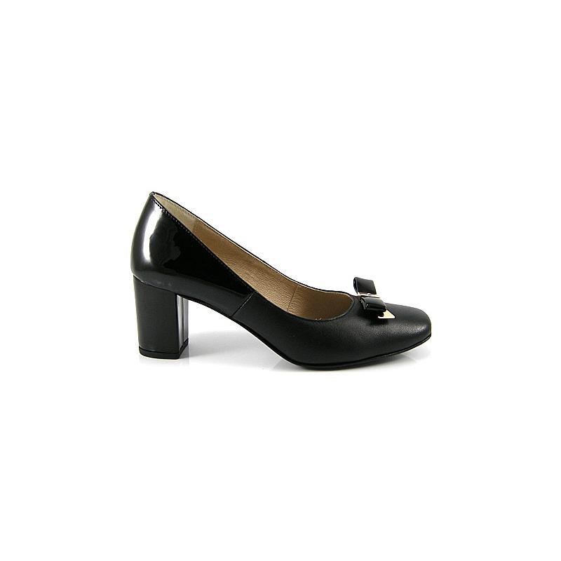 czółenka skóra Ulmani Shoes 7583 czarne