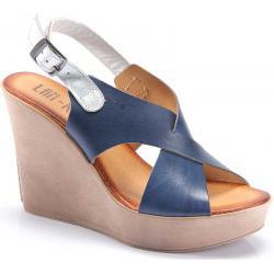 sandały damskie Lan-Kars C52-20-PLA niebieskie