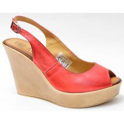 sandały skóra Lan-Kars C69-110 czerwone