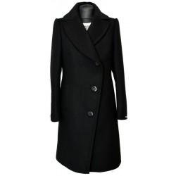 płaszcz Dziekański Edyta czarny z przodu