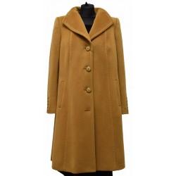 płaszcz Dziekański Serena musztardowy z przodu