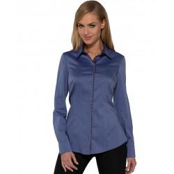 koszula Dziekański Nasturcja niebieska na modelce