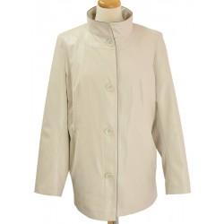 kurtka wiosna Biba Elżbieta jasny beż rozmiar 46 48 52