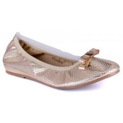 baleriny damskie Wishot R15-D-P-524-GO złota rozmiar 36 39