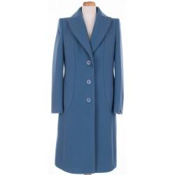 płaszcz Aldona indygo przód