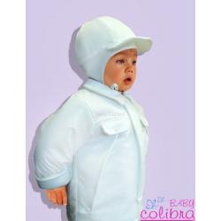 komplet do chrztu Baby Colibra Promyk chłopięcy 2 częściowy + czapka gratis 74 cm
