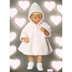 pelerynka do chrztu z kapturem Baby Colibra dziewczęca biały