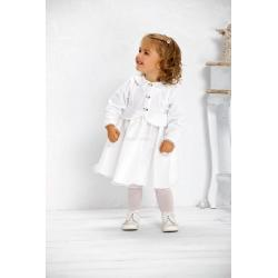 sukienka do chrztu Baby Colibra Misia + kapelusz gratis