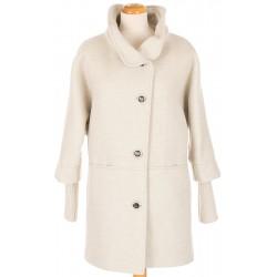płaszcz flauszowy Biba Melania jasno beżowy rozmiar 40 42 44 46