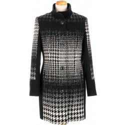płaszcz wełniany Biba Donata biało czarny rozmiar 46