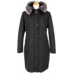 kurtka damska z lisem Biba Stefania czarna rozmiar 42