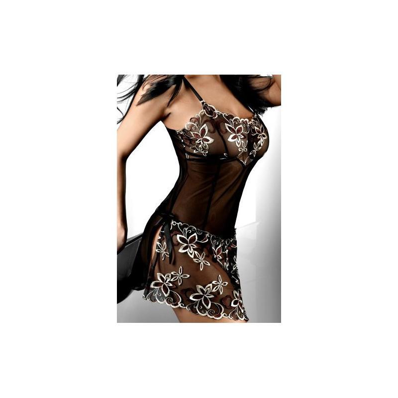 komplet Livia Corsetti HERA black koszulka + stringi