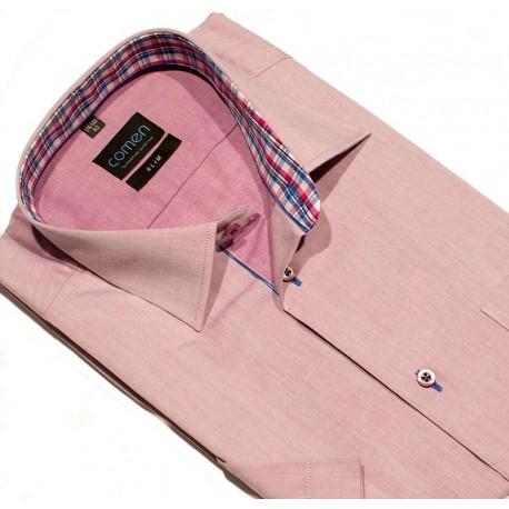 Koszula krótki rękaw Comen 26006901 blady fioletowy 40 41 42 43 44