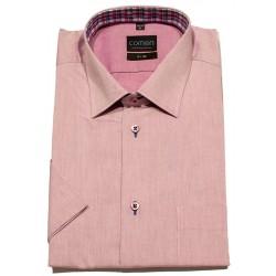 Bladofioletowa koszula z krótkim rękawem Comen slim 40 41 42 43 44