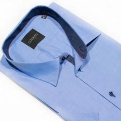 Koszula taliowana z krótkim rękawem Comen niebieskia 100% bawełna 41