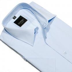 Koszula z krótkim rękawem Comen slim niebieskia 40 41 42 43 44 45 46