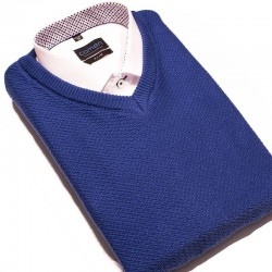 Sweter v-neck Lasota Ksawery atlantic niebieski rozmiary M L XL 2XL