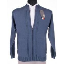 Rozpinany sweter Lidos SW771, kolor jeansowy roz. M, L, XL, 2XL, 3XL