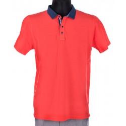Koralowa koszulka polo krótki rękaw Bastion - BTN rozmiar L