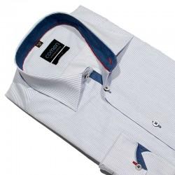 Koszula dł. rękaw Comen slim biała paski r. 39 40 41 42 43 44 45 46 48