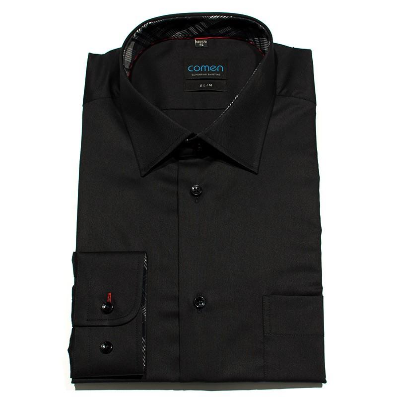 Koszula Comen slim czarna