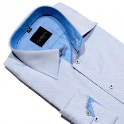 Długi rękaw Comen koszula zwężana niebieska rozmiar 39 40 41 43 44