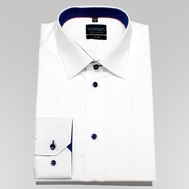 Koszula Comen dr slim biała