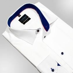 Koszula Comen dł. rękaw slim gładka biała roz. 38 40 41 42 43 44
