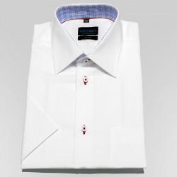 Biała koszula krótki rękaw Comen taliowana z wykończeniem 40 41 42 43