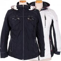 kurtka dwustronna Biba Serena granatowo biała rozmiar 38 40 44