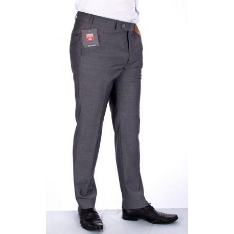 Spodnie szare z mikrowzorkiem Asta