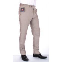Spodnie wizytowe w kant Asta beżowe wełniane rozmiar pas 88-120 cm