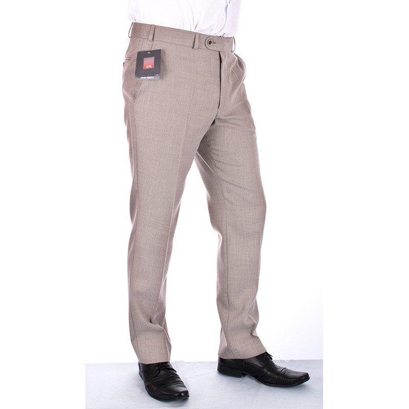 Beżowe spodnie wizytowe Asta