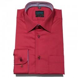 Burgundowa taliowana koszula Comen z kieszenią roz. 39 40 41 42 43 44