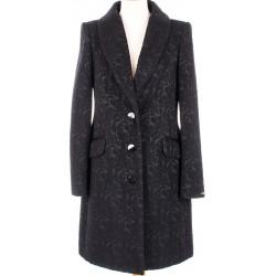 płaszcz Dziekański Izyda czarny żakard 128 rozmiar 38 40 42 44