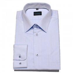 Koszula regular z długim rękawem Comen jasnoniebieska - bawełniana