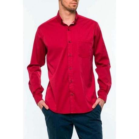 koszula Roy KS161 bordo-róż