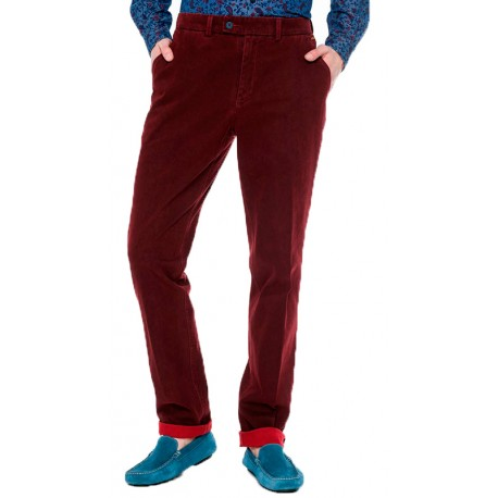 Bordowe spodnie chinosy Roy SML38