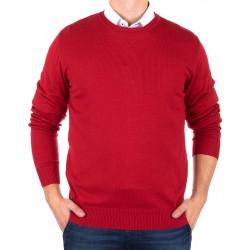Czerwony sweter Jordi J-833 u-neck rozmiar M L XL 2XL