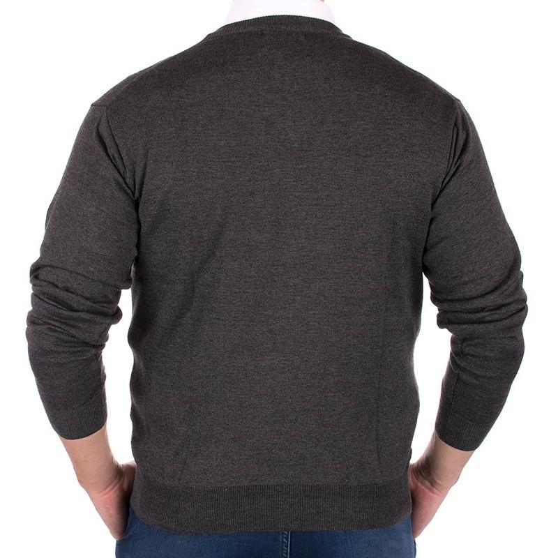Sweter w szpic Kings 100*S-402 4006 ciemno-szary