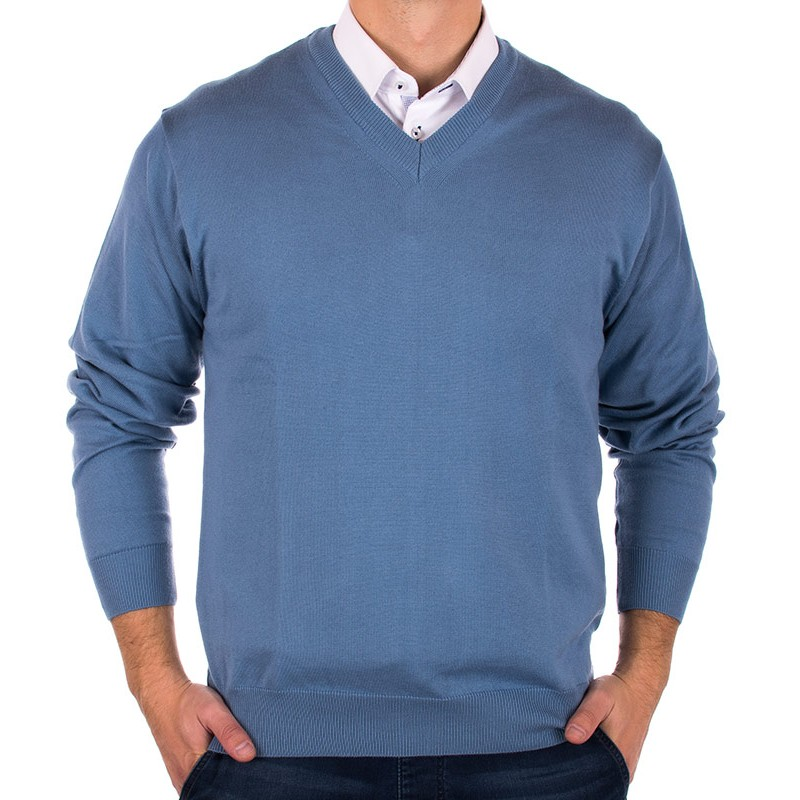 Jasnoniebieski pulower Kings 100*S-402 4006