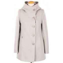 płaszcz damski HUNA Maja szary beż rozmiar 36 40 42 44 46 50