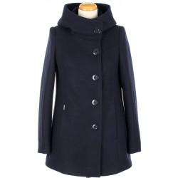 płaszcz kurtka HUNA Maja granat rozmiar 36 40 44 46 48 50