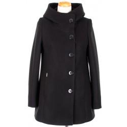płaszcz zimowy HUNA Maja czarny rozmiar 36 38 40 42