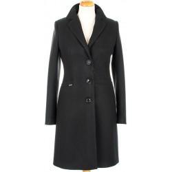 płaszcz HUNA Nela czarny rozmiar 36 38 40 42 44 46 48