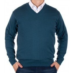 Sweter Kings 100*S-402 4006 petrol blue - morski